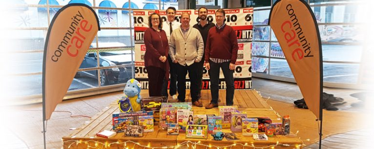 Clickback supports Community Care with Toys and Food at Christmas