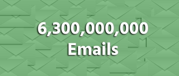 6 billion emails